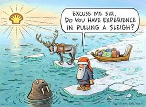 Greenpeace: Save Santas Home Christmas card