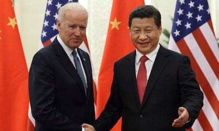 Joe Biden and Xi Jinping in Beijing