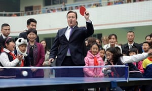David Cameron in Chengdu, China