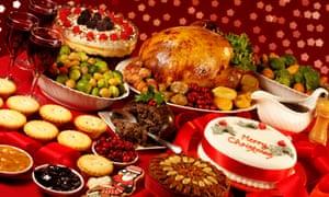 Traditional Christmas dinner.