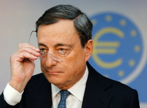 ECB president Mario Draghi after November's meeting of the governing council. Photo: AP Photo/Michael Probst