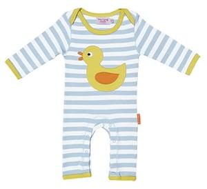 Socent Advent Calendar: Duck applique baby grow
