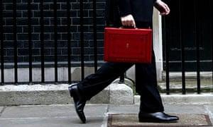 George Osborne budget suitcase