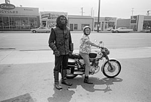 Dennis Stock: Scene during the making of Planet of the Apes, California, 1967