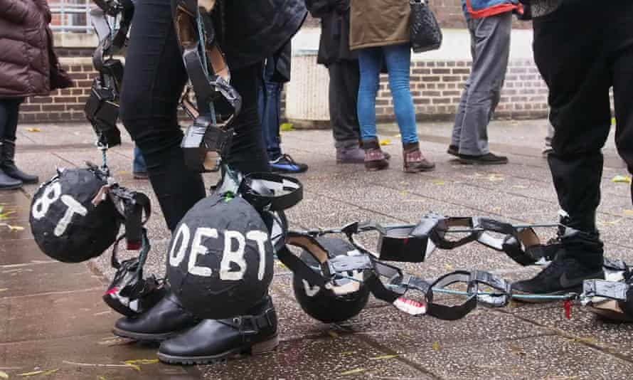 student loan debt protest