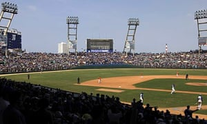 Fans watch a Industriales and Villa Clara game