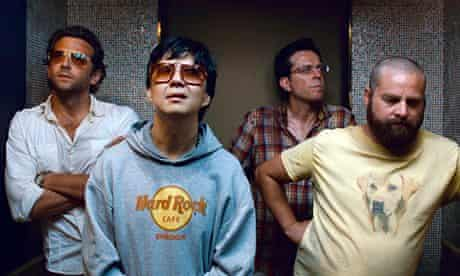 Jeong with Bradley Cooper, Ed Helms and Zach Galifianakis in The Hangover Part II.