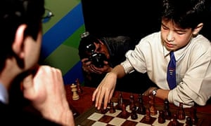 gifted children playing chess