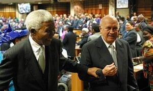 FW de Klerk: world has lost a great unifier with Nelson Mandela's death