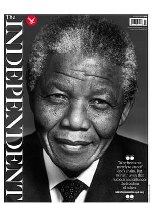 Mandela front pages: Mandela, the Independent