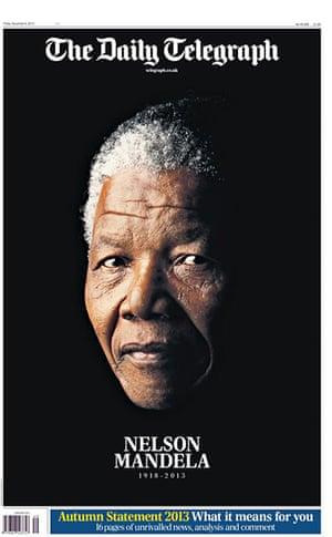 Mandela front pages: Mandela Daily Telegraph