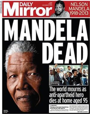 Mandela front pages: Mandela Mirror