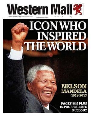 Mandela front pages: Mandela Western Mail