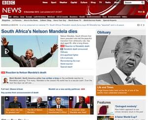 Mandela front pages: Mandela BBC