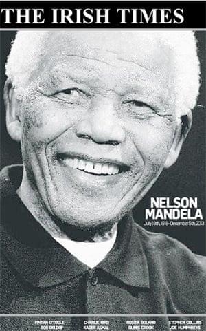 Mandela front pages: Mandela Irish Times