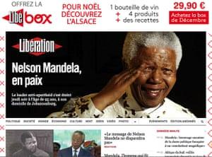 Mandela front pages: Libération