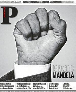 Mandela front pages: Público
