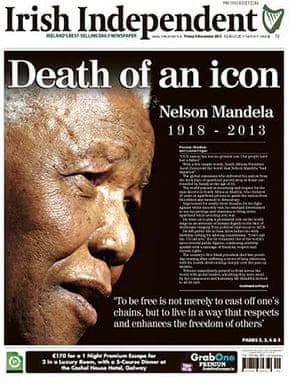 Mandela front pages: Irish Independent
