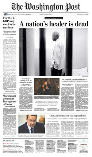 Mandela front pages: The Washington Post