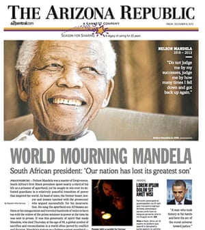 Mandela front pages: Arizona Republic