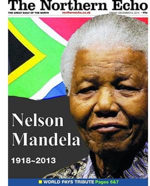 Mandela front pages: Northen Echo