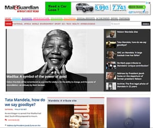 Mandela front pages: Mail & Guardian