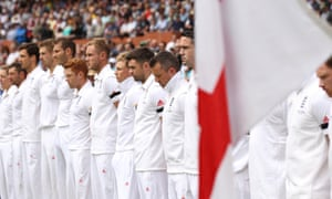 England players observe a minute's silence for Nelson Mandela during day two of the Second Test Match at the Adelaide Oval, Australia.