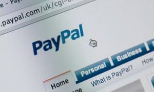 A screenshot of PayPal's website. The company faced online protest over its boycott of WikiLeaks.