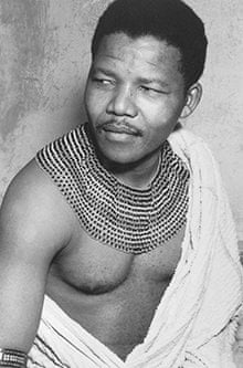 Nelson Mandela in traditional dress in 1950. Photograph: Apic/Getty ...