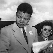 Nelson Mandela with fellow anti-apartheid activist Ruth First at an ANC conference in 1951