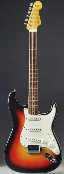 The Fender Stratocaster played by Bob Dylan at the 1965 Newport folk festival
