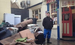Daniel Philpott, owner of the Britannia pub, in Boston, Lincolnshire, after the floods.