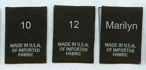 Marilyn size label