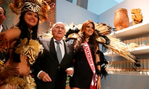 Sepp Blatter arrives for the draw