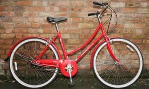 Vintage red festive bike
