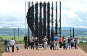 Visitors from around KwaZulu-Natal pay their respects to Mandela at the Mandela Capture Site outside Howick.