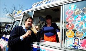 Ed Miliband in Long Eaton, Nottinghamshire