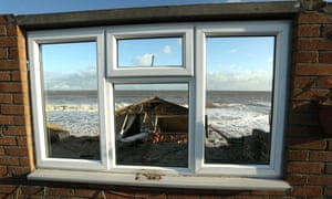 Properties have fallen into the sea due to a cliff collapsing in Hemsby, Norfolk