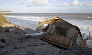 house collapsed into the sea