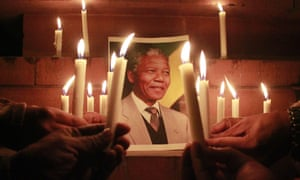 A candlelight vigil for Nelson Mandela is held in Amritsar, India.