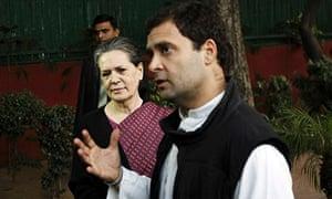 Sonia and Rahul Gandhi, 8/12/13