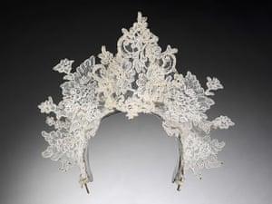 Wedding Dresses: lace tiara