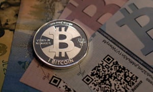 """A """"physical bitcoin"""" owned by enthusiast Mike Caldwell."""