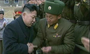 The same frame shown in December, but this time Kim Jong-un's uncle is absent from the footage.