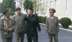 Footage from the same scene, with the leader's uncle cut from the frame.
