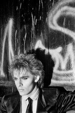 Duran Duran: Nick Rhodes on a fire escape in New York City 1984. Grab a location when yo
