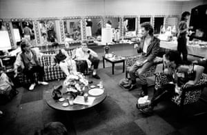 Duran Duran: A band meeting in the inner sanctum - backstage in the US, 1984