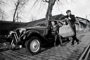 Duran Duran: John Taylor and Nick Rhodes in Paris during a break in shooting the New Moo
