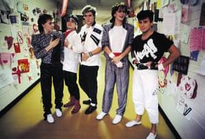 Duran Duran: Duran Duran backstage in Baton Rouge, St Valentine's Day, 1984