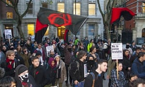 Cops Off Cops off Campus protest at University of London on Thursday
